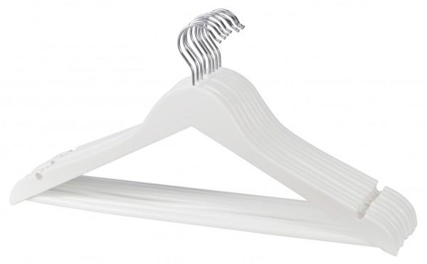 5 Kleiderbügel Anzugbügel Wäschebügel Hemdenbügel Garderobenbügel Holzbügel weiß