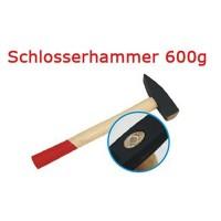 Schlosserhammer Schlosser Hammer mit Stiel aus Holz, 600 g