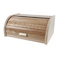 Großer Brotkasten, Buche mit Rollklappe, Rollbrotkasten 39 cm Brotbox