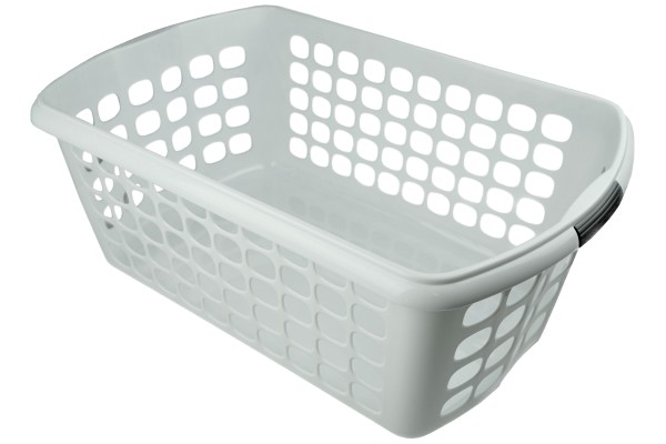 Wäschekorb aus Plastik weiß 54 x 35 x 23 cm