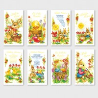 Glückwunschkarten Osterkarten Grußkarten Ostern 11,5 x 17 cm Goldfolie