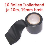 0,04Eur/m 100m Isolierband 10 Rollen zu je 10 m Klebeband 19mm breit Isoband