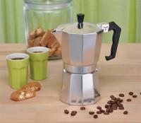 Aluminium Espressokocher 6 Tassen Espresso Kaffee Bereiter Espressokanne