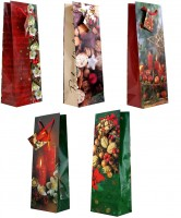 Geschenktüte Flaschentüte Weihnachtsdeko - Jumbo 36 x 13 x 8,5 cm