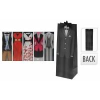 1 Stück Geschenktüte Flaschentüte, DRESS MAN + WOMAN, 35 x 12 x 10 cm