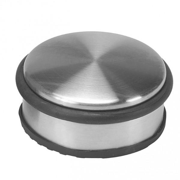 Schwerer Türstopper Edelstahl Gummiring, rund, 1,20 kg - 10 x 4,5