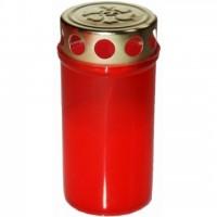 Premium Grabkerzen,Rot 60 Std. Öllichter Grablicht Kompo Engel