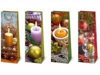 Flaschentüte Weihnachten Kerzenschein - Jumbo 39 x 12 x 9 cm