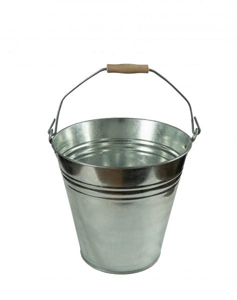 Zinkeimer mit Holzgriff 7 Liter, Ascheeimer