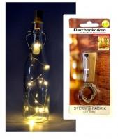 LED Flaschenkorken Lichterkette für Innen, 8 LED's batteriebetrieben