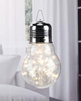 Glühbirne mit LED Lichterkette für Innen, Beleuchtung 30 LED's
