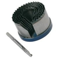 6 tlg Lochsäge Durchmesser 60-95mm Tiefe 35 mm Lochsägensatz Bohrkranz Satz Set