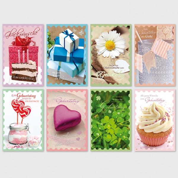 Glückwunschkarte Grußkarte moderne Geburtstagkarte 11,5x17,5 cm