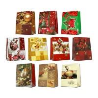 Geschenktüte verschiedene Weihnachtsdesigns - Medium 23 x 18 x 10 cm
