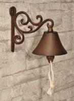 Türglocke Klingel Türklingel Glocke Gartenglocke Wandglocke Gußeisen rustikal