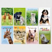 Glückwunschkarten Geburtstagskarten Grußkarten Niedliche Tiere 11,5x17,5 cm