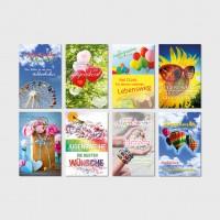 Glückwunschkarten Jugendweihekarten Grußkarten Jugendweihe Karten 11,5x17,5 cm