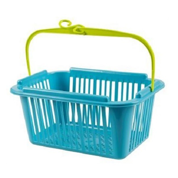 Wäscheklammernkorb, Klammerkorb Korb für Wäscheklammern 12 x 25 x 18,5 cm, Haken