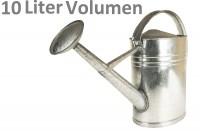 Zinkgießkanne Gartengießkanne feuerverzinkt Metall - 10 Liter