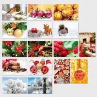Weihnachtsgrußkarte Fotokarte Schneelandschaft 11,5 x 17,5 cm
