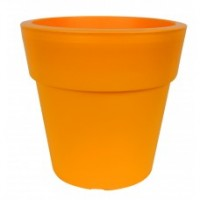 Pflanzkübel LINEA, Blumenkübel, Pflanztopf, orange, d= 16 cm, H= 15,5 cm,