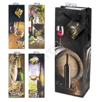 1 Stück Geschenktüte Flaschentüte,JUMBO,Wein und Sekt, 36 x 13 x 8,5cm