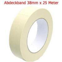 0,04 Eur/m Abdeckband 38 mm x 25 meter Kreppband Maler Krepp Band Abklebeband