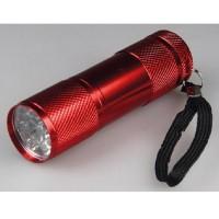 Alu Taschenlampe Superhelle 9-LED, 27x90mm lang Mini Lampe Leuchte Flashlight