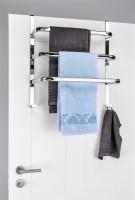 Tür-Handtuchhalter Türhalterung Handtuchstange Handtuchhaken Türhaken verchromt