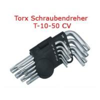 TORX HEX Winkel Schraubendrehe?r Satz 9 tlg T10-T50 mit Stirnloch loch