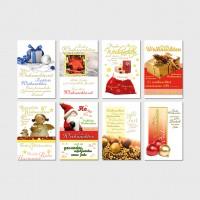 Weihnachtsgrußkarte Geschenk, Weihnachtskugel, Engel mit Spruch 11,5 x 17,5 cm