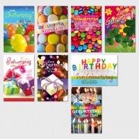 Glückwunschkarten Geburtstagskarten Grußkarten fröhliche Farben 11,5x17,5