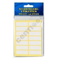 Selbstklebe Etiketten,Etiketten 140Stück,weiß,ca. 3,7x1,2cm,SB-Blister