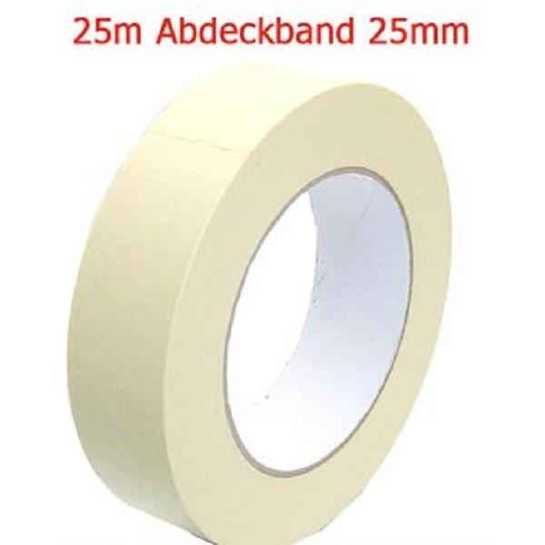 Abdeckband 25 mm x 25 meter Kreppband Maler Krepp Band Abklebeband