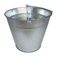 Zinkeimer 15 Liter, Eimer verzinkt Dekoeimer, Blecheimer Metalleimer Wassereimer