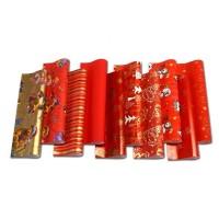 Geschenkpapier Weihnachten verschiedene Motive, Rot 2 x 0,7 m