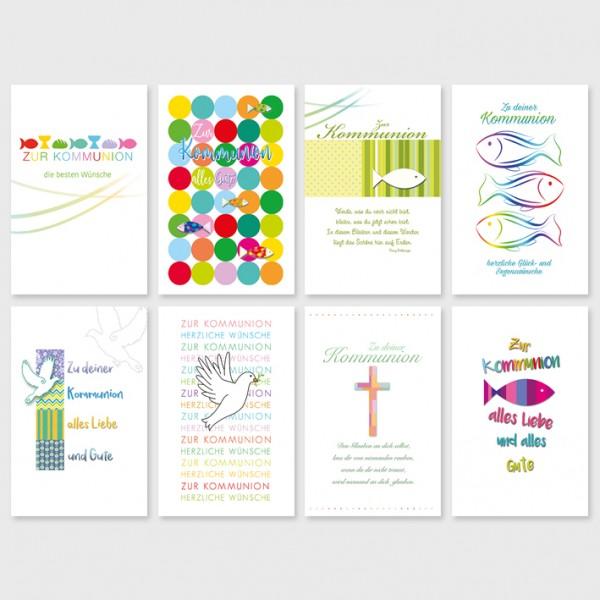 Glückwunschkarten Kommunionskarten Grußkarten Karten Kommunion, 11,5x17,5cm