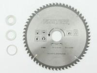 190 x 30mm HM NE Metall Kreissägeblatt 60Z 3 Reduzierringe Alu Kunststoff Eisen