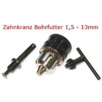 """Zahnkranz-Bohrfutter 1/2"""", 1,5-13mm, SDS-Adapter mit Bohrfutterschlüssel"""
