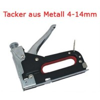 Tacker Metall für Klammern 4-14mm Handtacker Hefter incl. 50 Klammern