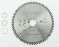 210 x 30mm HM NE Metall Kreissägeblatt 80Z 3 Reduzierringe Alu Kunststoff Eisen