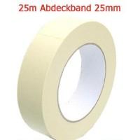 0,04 Eur/m Abdeckband 25 mm x 25 meter Kreppband Maler Krepp Band Abklebeband
