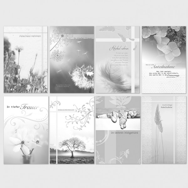 Beileidsbekundung Karte.Trauerkarten Beileidsbekundung Anteilnahme Karten 11 5x17 5 Cm