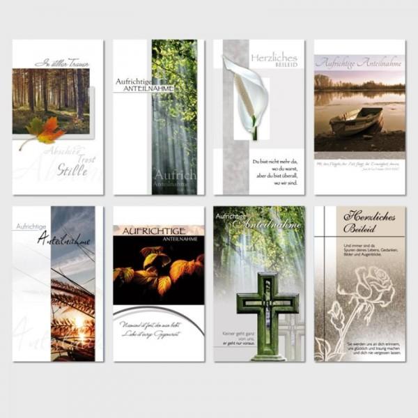 Trauerkarten Beileidsbekundung Anteilnahme Beileid Karten 10x18 cm