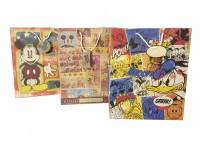 Geschenktüte gross,Motiv Disney Retro Look,Tasche,Tüte, 3 fach sortiert