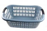 Wäschekorb aus Plastik grau 55 x 37 x 20 cm