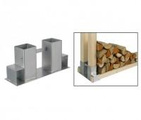 Holzstapelhilfe Holzstapelhalter Brennholz Stapelhilfe Kaminholz Gestell Holz