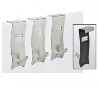 3 Stück Universal Türhaken Edelstahl Tür Haken Kleiderhaken Türgarderobe Set