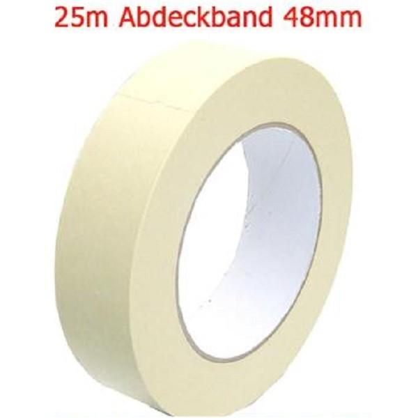 Abdeckband 48 mm x 25 meter Kreppband Maler Krepp Band Abklebeband