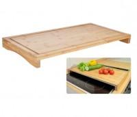 Schneidebrett Bambus Herdabdeckung Kochfeldabdeckung Tablett Herd Abdeckplatte